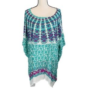Tops - Colorful Summer Tunic Top Cover Up
